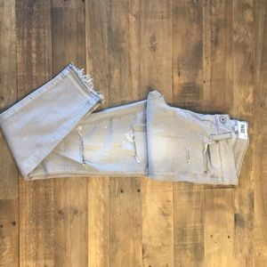 Light grey distressed Paige Verdugo Ankle